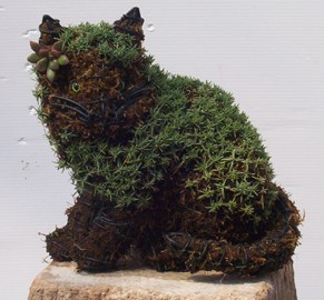 Kitten Sitting Garden Topiary Frame