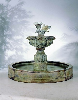 Paloma Cascada in Valencia Outdoor Cast Stone Garden Fountain