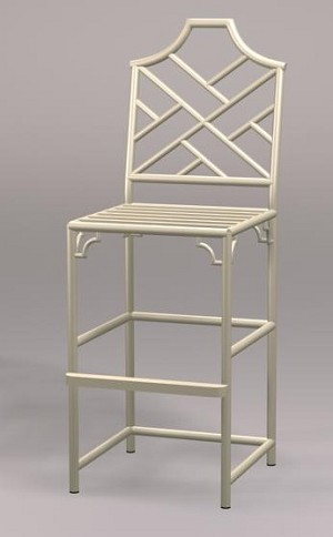 Chinese Chippendale Bar Stool
