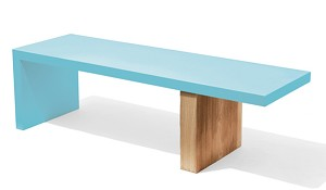 Recycled Metal Eco Friendly Plank Bench