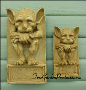 Gargoyle Welcome Plaque