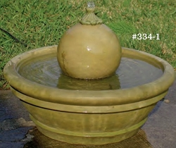 Outdoor Patio Fountain with Sphere
