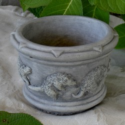 Playful Possum Fine Cast Planter