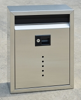 Ecco Fuoriserie E10 Large Stainless Steel Locking Mailbox