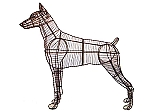 Doberman Dog Garden Topiary Frame