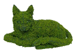 Cat Lying Garden Topiary Frame
