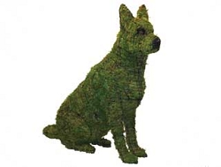 36 Inch Sitting German Shepherd Garden Topiary Frame