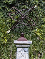 24-Inch Armillary Sphere Garden Art (in Many Colors)