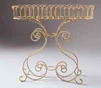 Wrought Iron Bread Basket Planter