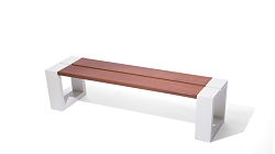 Recycled Metal Eco Friendly Channel Bench
