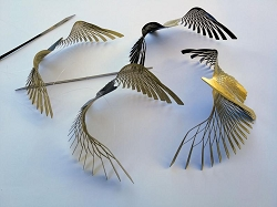 Black & Gold Bird Ornamental Hanging Mobile