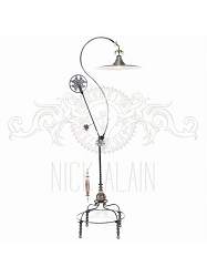 Magnum Pulley Floor Lamp by Nick Alain