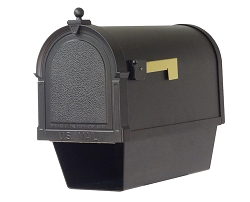 Berkshire Cast Aluminum Mailbox with Newspaper Tube