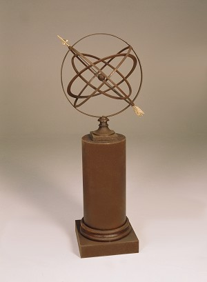 24-Inch Armillary Sphere With Column Pedestal (in Many Colors)