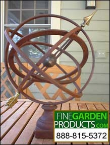 Small Table Armillary Sphere Garden Art