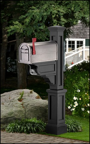 Dover Mailbox Post with Paper Holder
