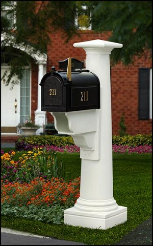 Statesville Mailpost with Paper Holder