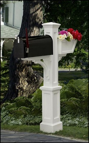 Westbrook Plus Mailbox Post With Planter